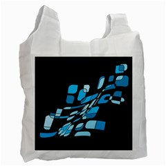 Blue abstraction Recycle Bag (One Side)