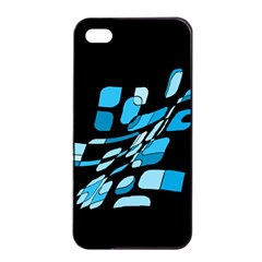 Blue abstraction Apple iPhone 4/4s Seamless Case (Black)