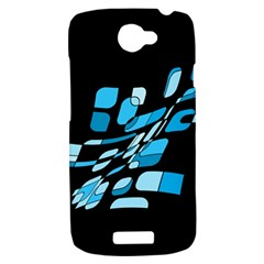 Blue abstraction HTC One S Hardshell Case