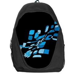 Blue abstraction Backpack Bag