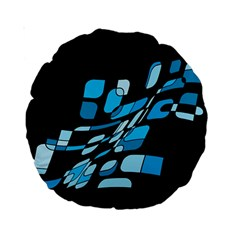 Blue abstraction Standard 15  Premium Round Cushions