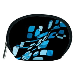 Blue abstraction Accessory Pouches (Medium)