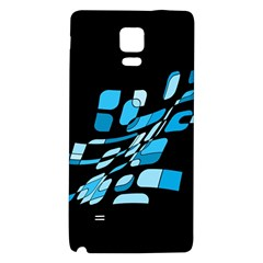 Blue abstraction Galaxy Note 4 Back Case