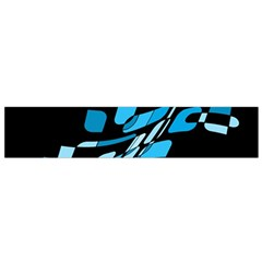 Blue abstraction Flano Scarf (Small)