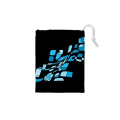 Blue abstraction Drawstring Pouches (XS)