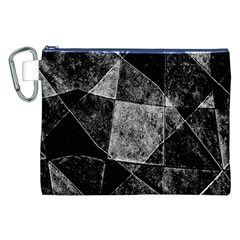 Dark Geometric Grunge Pattern Print Canvas Cosmetic Bag (XXL)