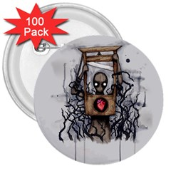 Guillotine Heart 3  Buttons (100 pack)