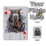 Guillotine Heart Playing Cards 54 Designs  Front - Heart7