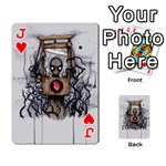 Guillotine Heart Playing Cards 54 Designs  Front - HeartJ