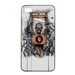 Guillotine Heart Apple iPhone 4/4s Seamless Case (Black)