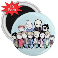 Goonies Vs Monster Squad 3  Magnets (10 pack)