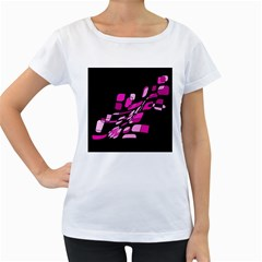 Purple abstraction Women s Loose-Fit T-Shirt (White)
