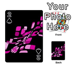 Purple abstraction Playing Cards 54 Designs