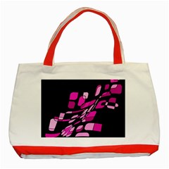 Purple abstraction Classic Tote Bag (Red)