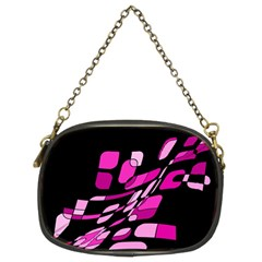 Purple abstraction Chain Purses (Two Sides)