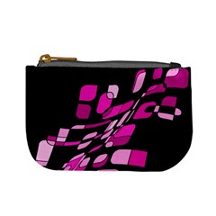 Purple abstraction Mini Coin Purses