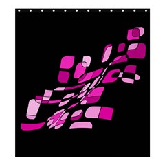 Purple abstraction Shower Curtain 66  x 72  (Large)