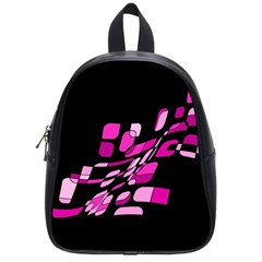 Purple abstraction School Bags (Small)