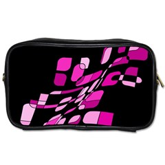 Purple Abstraction Toiletries Bags 2 Side
