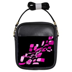 Purple abstraction Girls Sling Bags