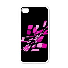 Purple abstraction Apple iPhone 4 Case (White)