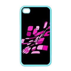 Purple abstraction Apple iPhone 4 Case (Color)