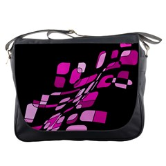 Purple abstraction Messenger Bags