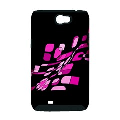 Purple abstraction Samsung Galaxy Note 2 Hardshell Case (PC+Silicone)