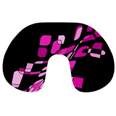 Purple abstraction Travel Neck Pillows