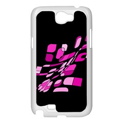Purple abstraction Samsung Galaxy Note 2 Case (White)