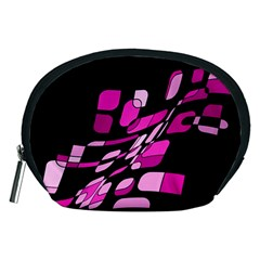 Purple abstraction Accessory Pouches (Medium)