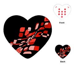 Orange abstraction Playing Cards (Heart)