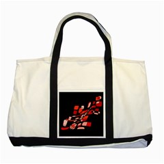 Orange abstraction Two Tone Tote Bag