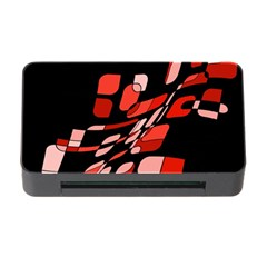 Orange abstraction Memory Card Reader with CF