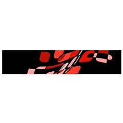 Orange abstraction Flano Scarf (Small)