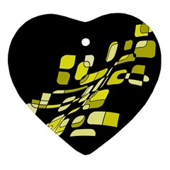 Yellow abstraction Ornament (Heart)