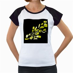 Yellow abstraction Women s Cap Sleeve T