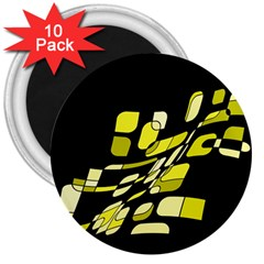 Yellow abstraction 3  Magnets (10 pack)