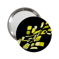 Yellow abstraction 2.25  Handbag Mirrors