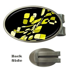Yellow abstraction Money Clips (Oval)