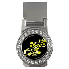 Yellow abstraction Money Clips (CZ)
