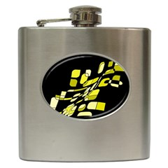 Yellow abstraction Hip Flask (6 oz)
