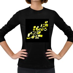 Yellow abstraction Women s Long Sleeve Dark T-Shirts