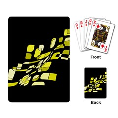 Yellow abstraction Playing Card
