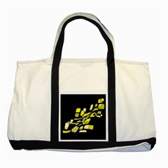 Yellow abstraction Two Tone Tote Bag