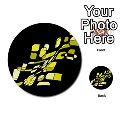 Yellow abstraction Multi-purpose Cards (Round)