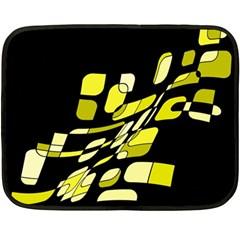 Yellow abstraction Double Sided Fleece Blanket (Mini)