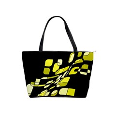 Yellow abstraction Shoulder Handbags