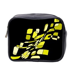 Yellow abstraction Mini Toiletries Bag 2-Side