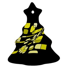 Yellow abstraction Christmas Tree Ornament (2 Sides)